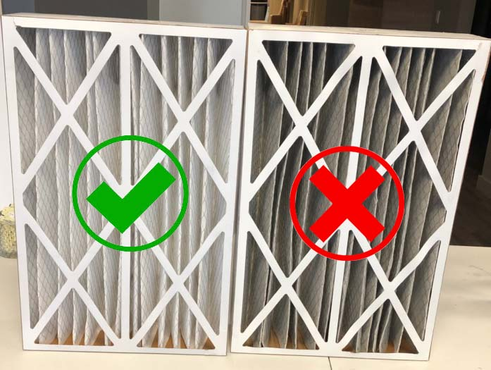 Time to Change your Furnace Filter if it looks like the one on the right!